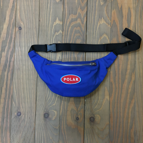 POLAR STATION LOGO HIP BAG BLUE