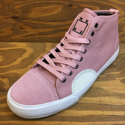 STATE FOOTWEAR HARLEM UP TOWN WKNDxSTATE CANDY PINK/WHITE SUEDE/CANVAS