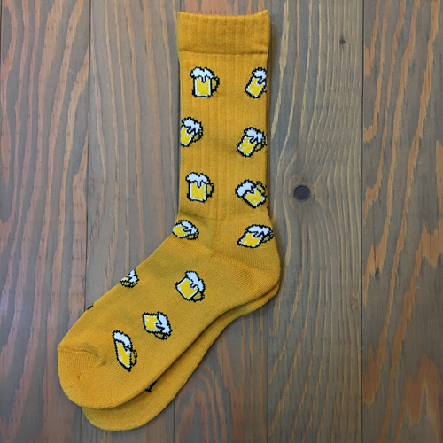 EAZY M!SS BEER SOX YELLOW