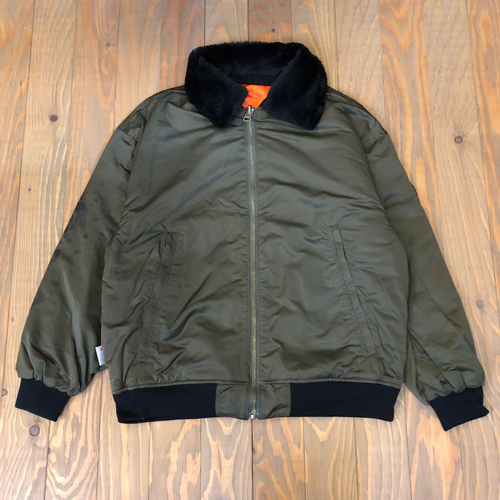EVISEN HOT SHOTS! REVERSIBLE FLIGHT JKT OLIVE x ORANGE