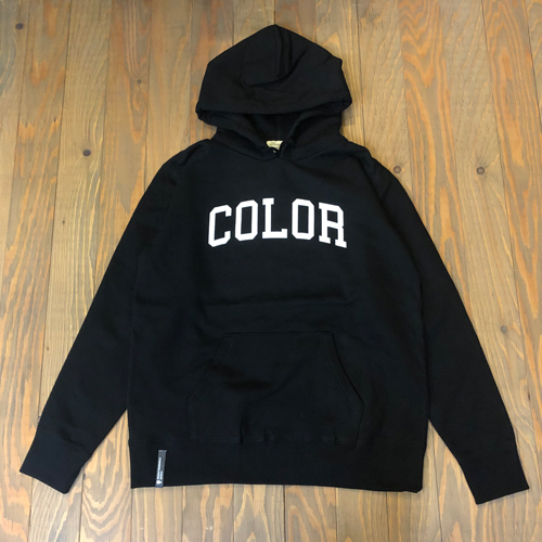 CCC COLLOGE FLOCK HOOD SWEAT BLACK