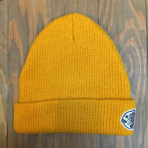 FISH & LIFE LOGO KNIT CAP GOLD