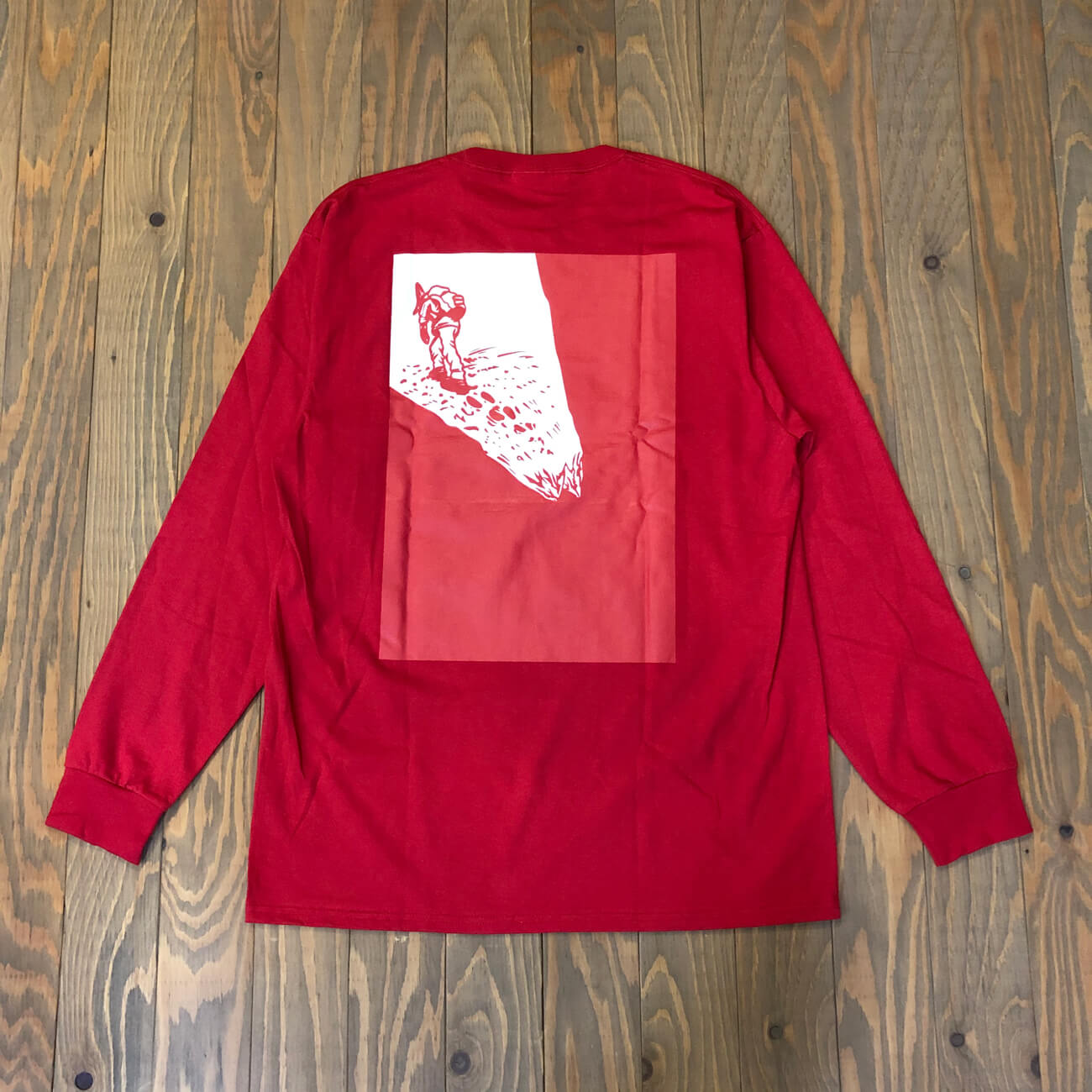 WHIMSY GEZAN TOZAN L/S TEE RED