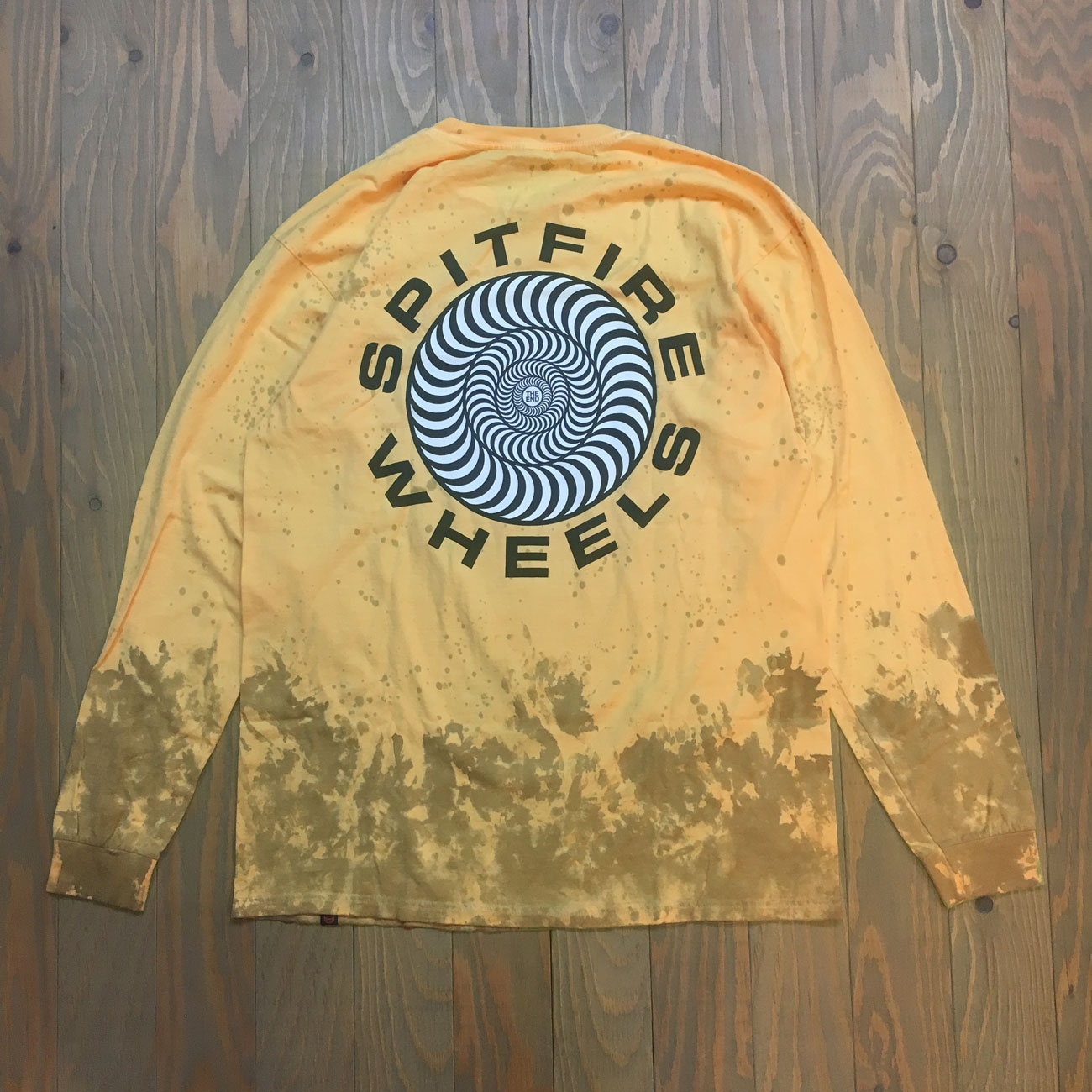 SPITFIRE CLASSIC 87' SWIRL L/S TEE YELLOW WASH
