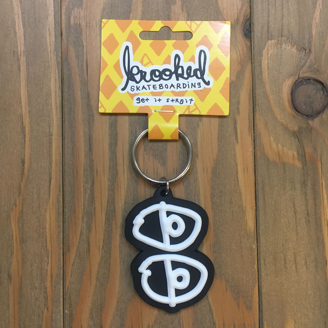 KROOKED KEY CHAIN EYES BLACK/WHITE