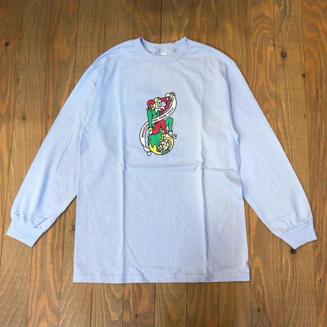 VHSMAG CLOWN L/S TEE POWDER BLUE