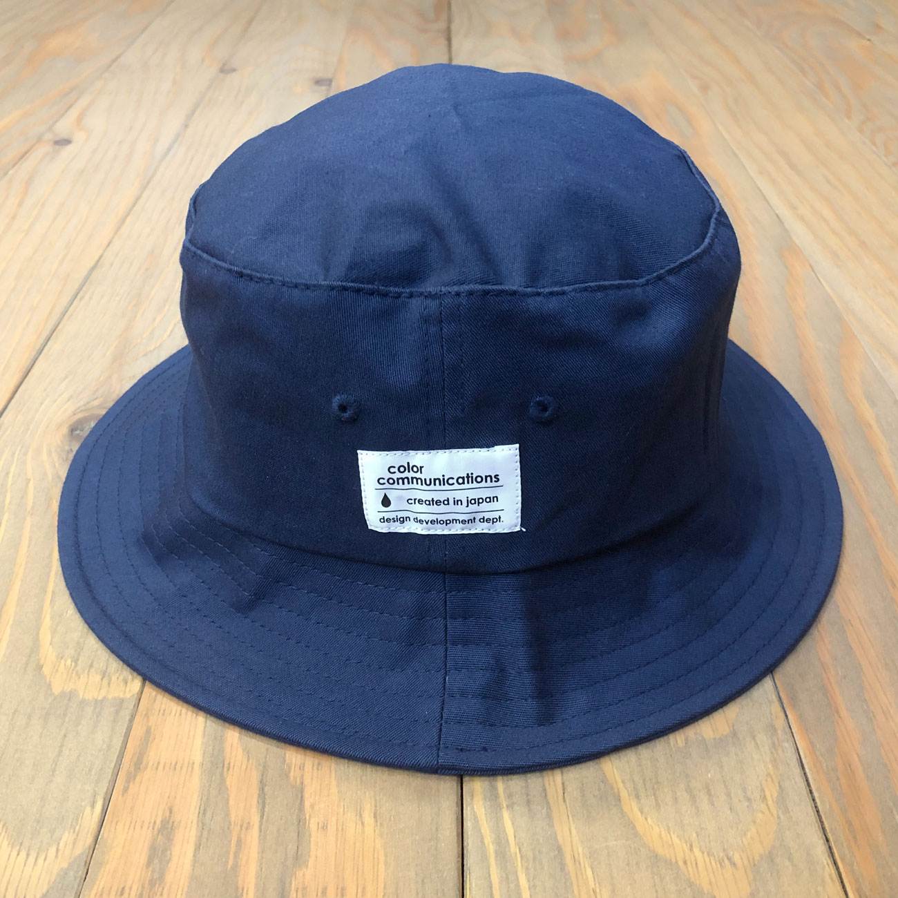 COLOR COMMUNICATIONS COTTON TAG BUCKET HAT FLEX NAVY