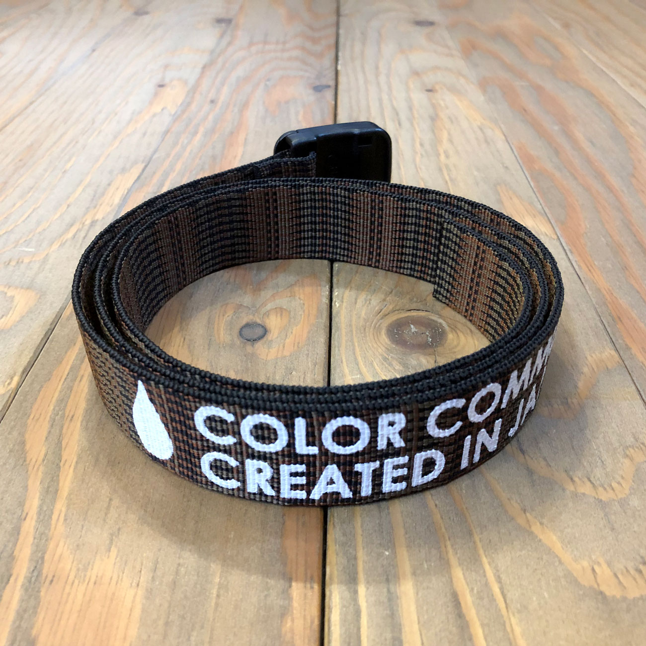 COLOR COMMUNICATIONS T-LOCK PATTERN BELT BROWN