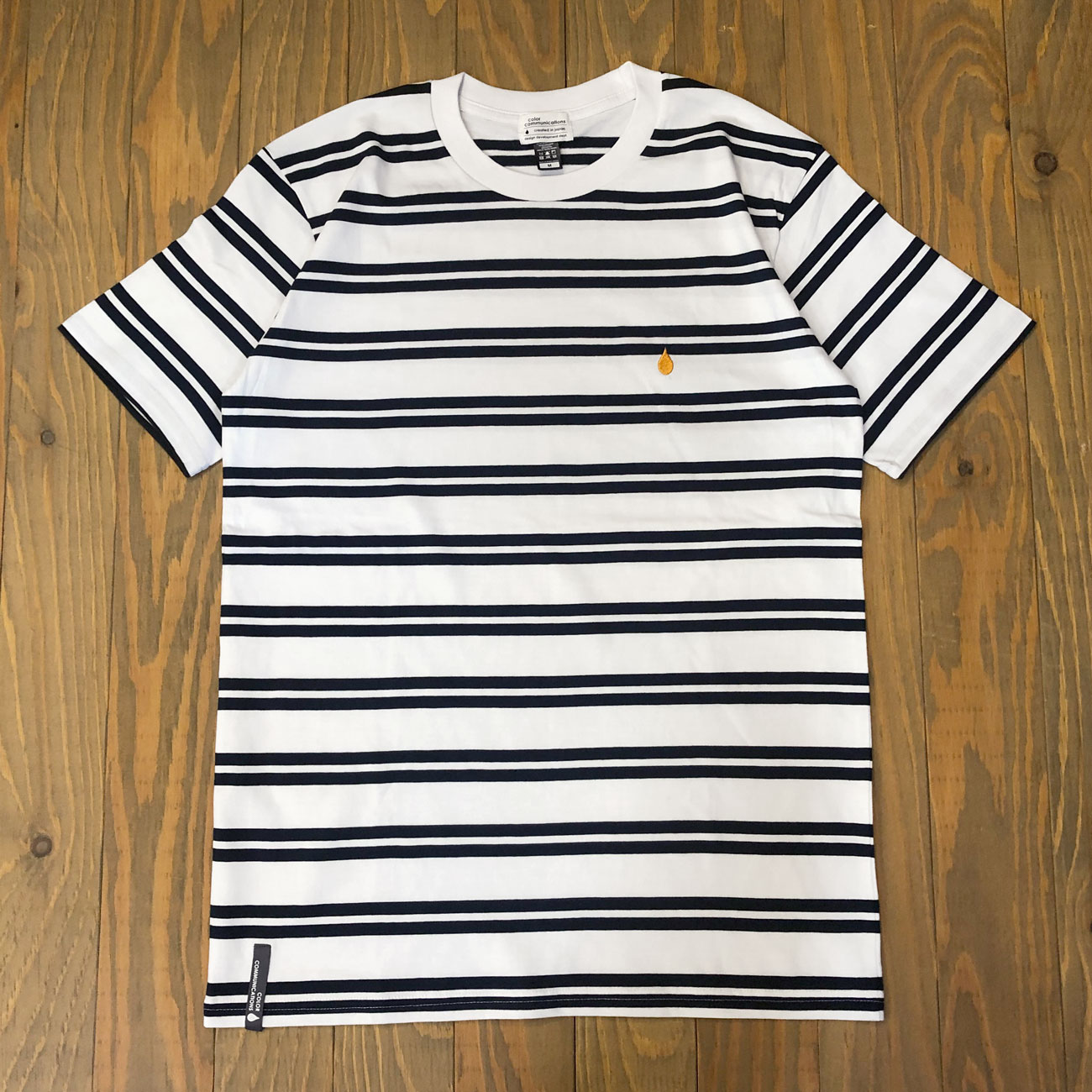 COLOR COMMUNICATIONS DRIP EMB STRIPE TEE