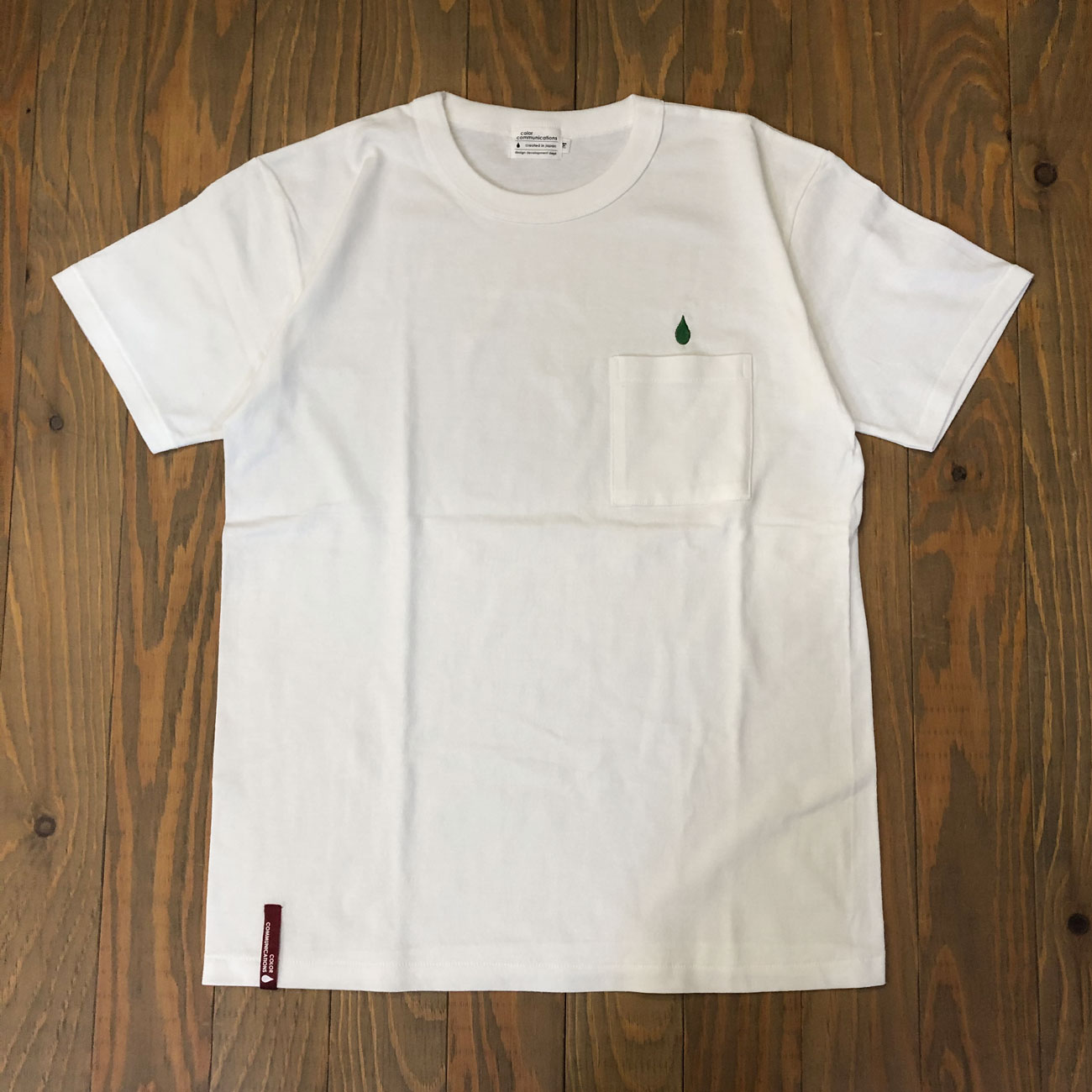 COLOR COMMUNICATIONS DRIP EMB POCKET TEE 2 WHITE