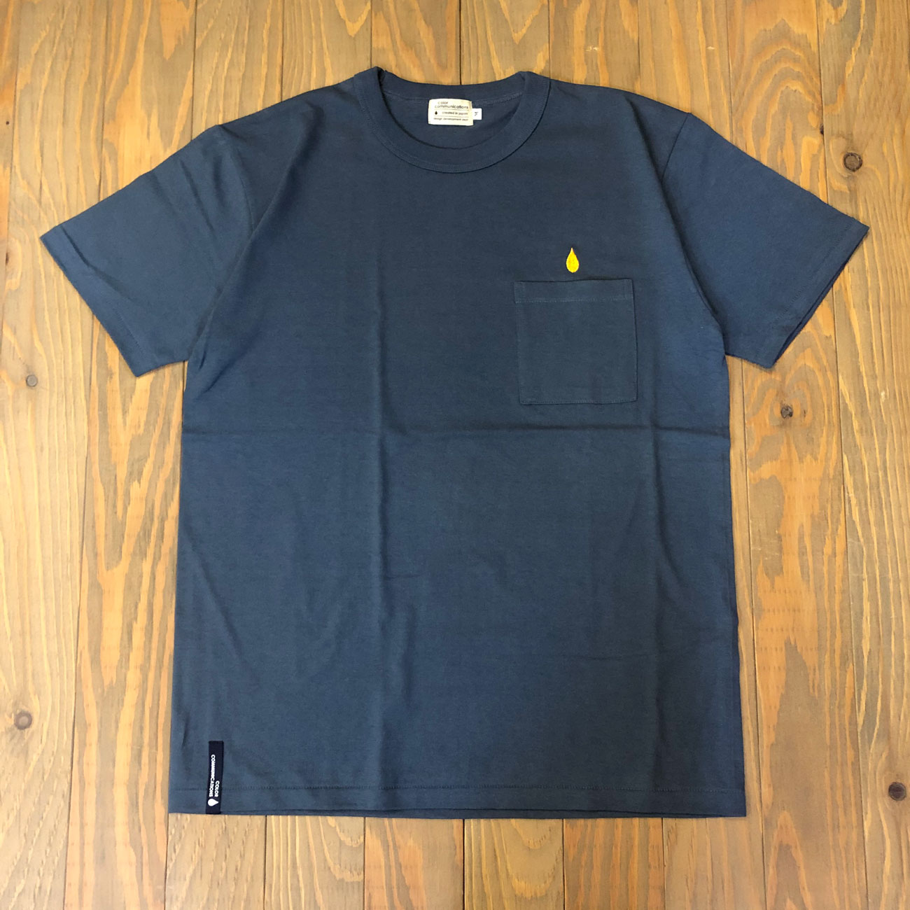 COLOR COMMUNICATIONS DRIP EMB POCKET TEE 2 NAVY