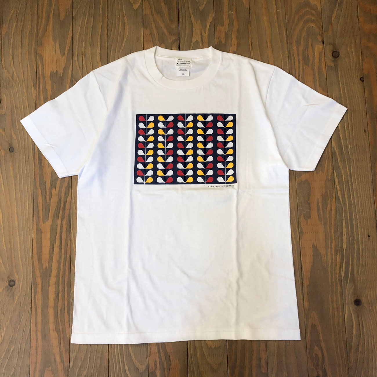 COLOR COMMUNICATIONS DRIP WALLPAPER TEE WHITE
