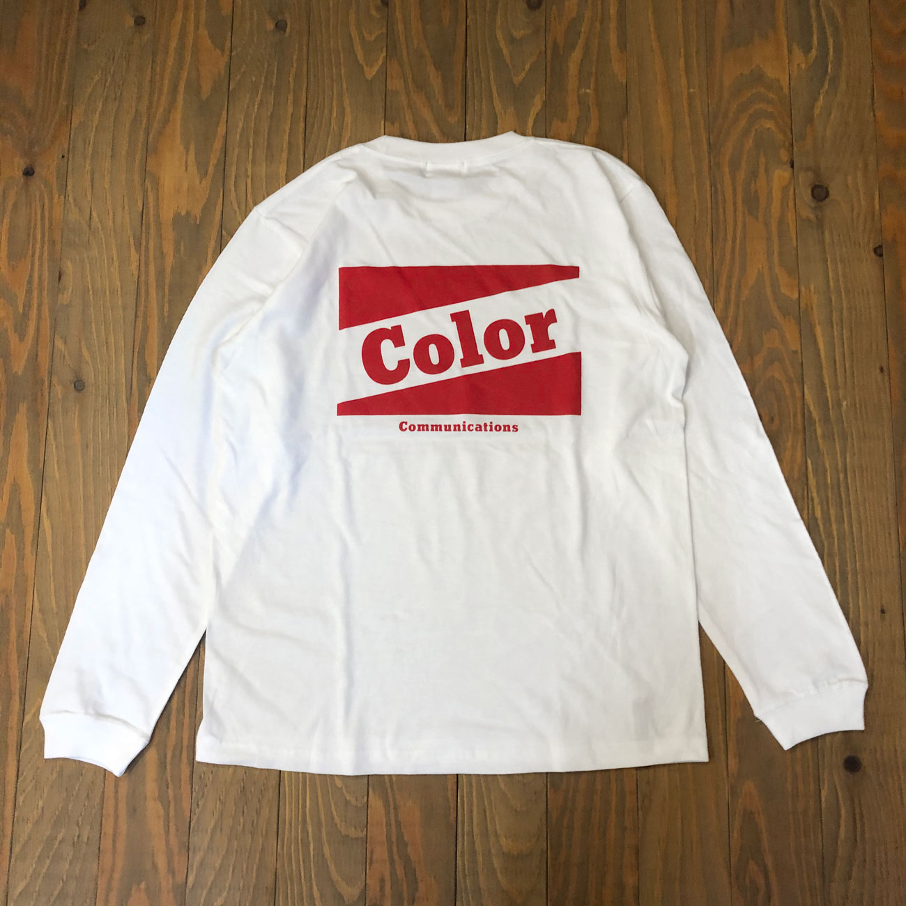 COLOR COMMUNICATIONS RETRO BAZ L/S TEE WHITE