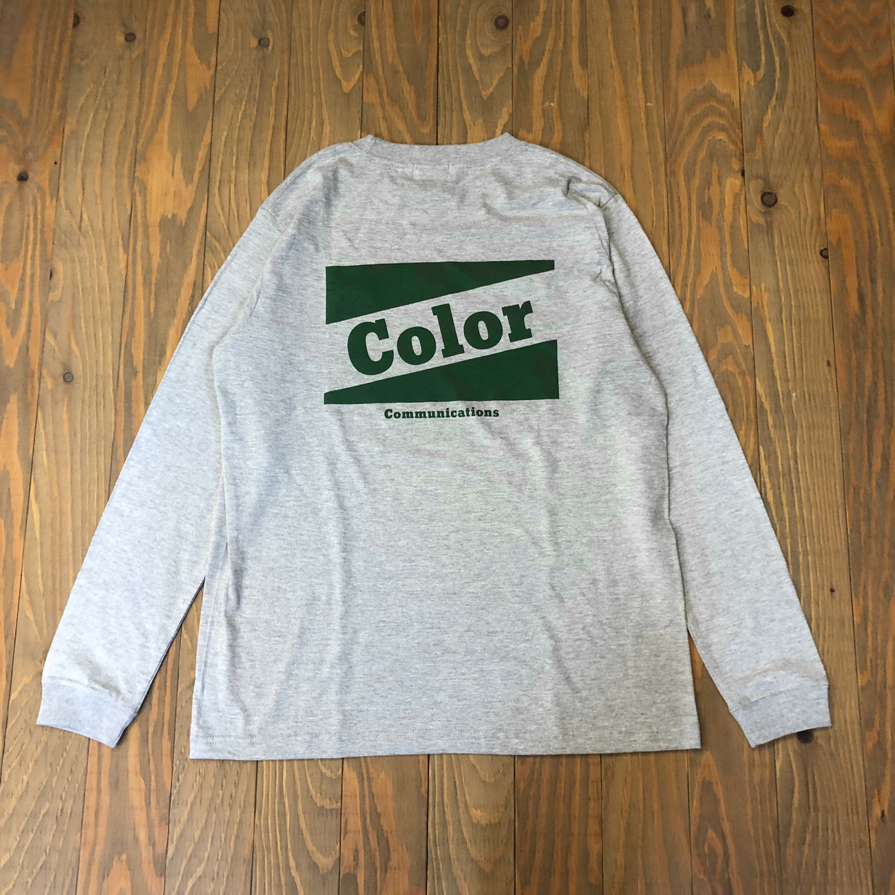 COLOR COMMUNICATIONS RETRO BAZ L/S TEE GREY