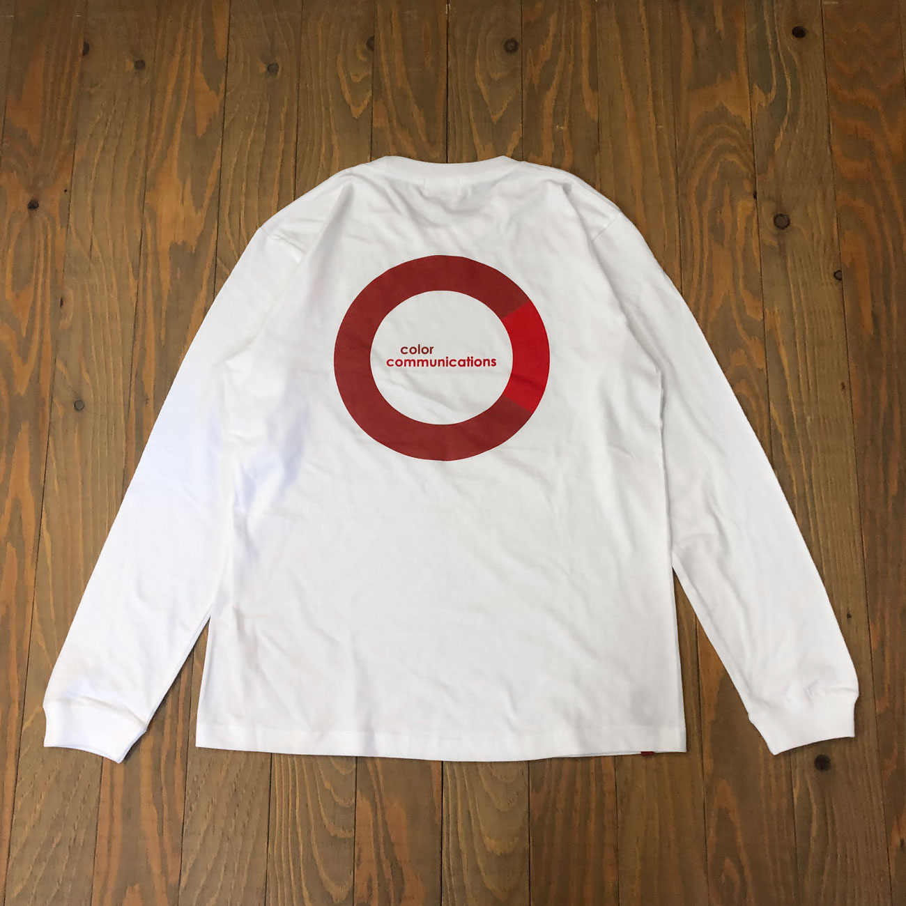 COLOR COMMUNICATIONS CRING L/S TEE WHITE