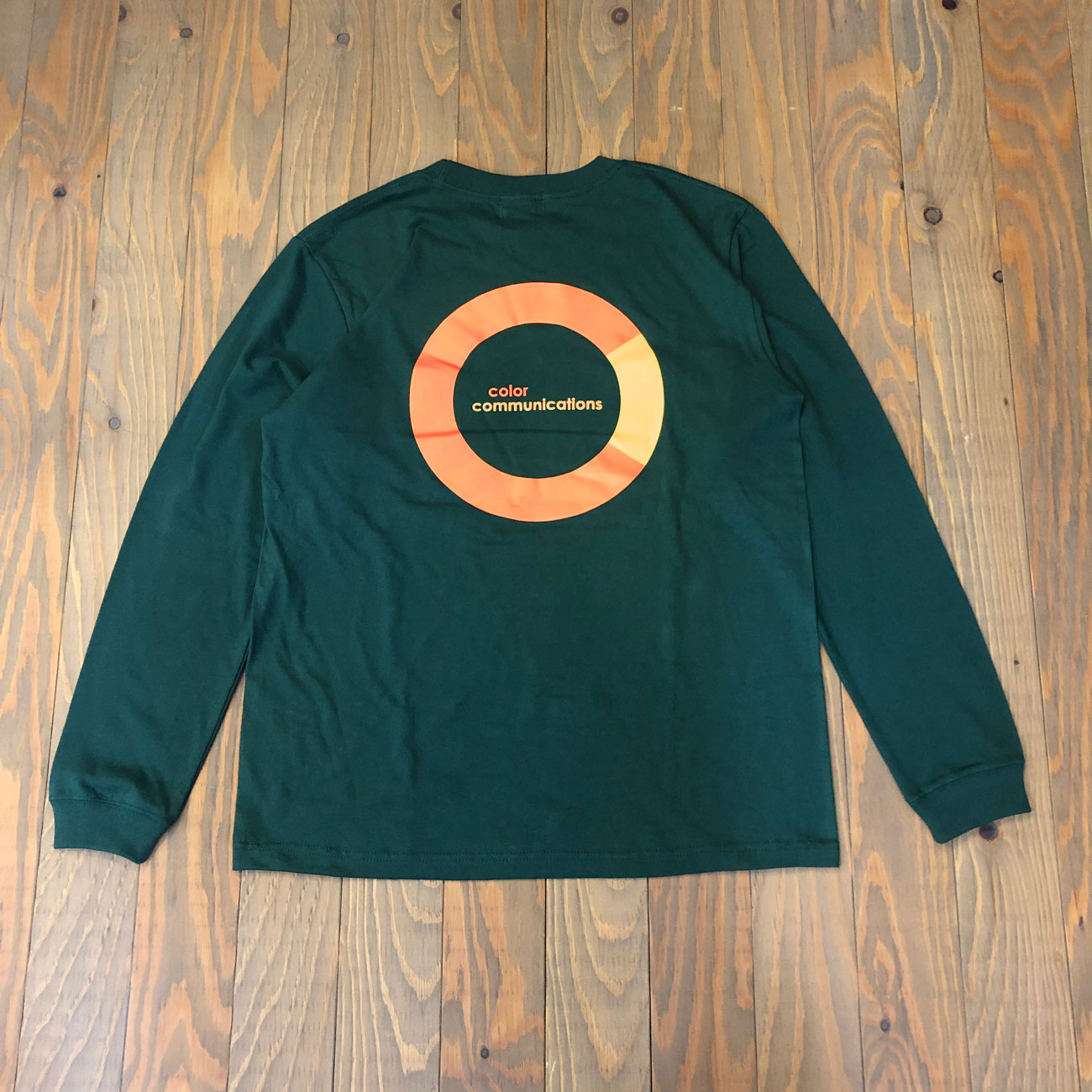 COLOR COMMUNICATIONS CRING L/S TEE GREEN
