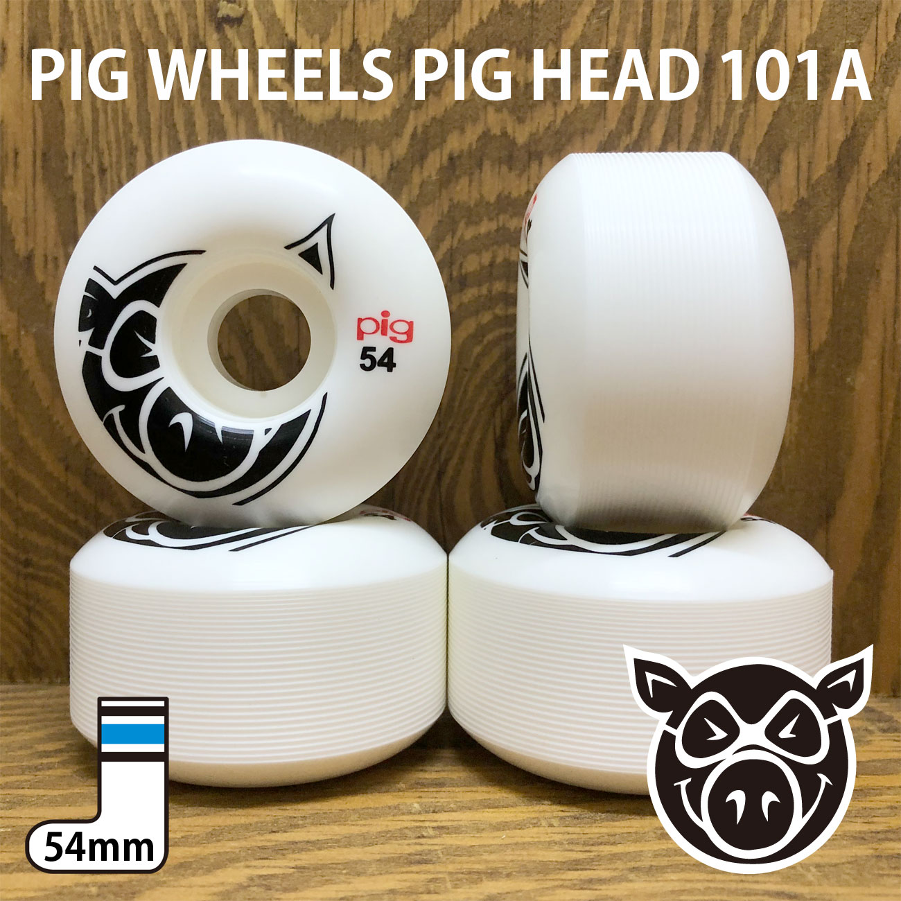 PIG WHEELS PIG HEAD 101A 54mm