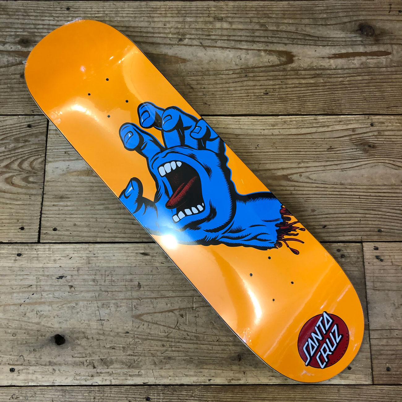 SANTA CRUZ SCREAMING HAND BLUE ORANGE DECK 8.0inch