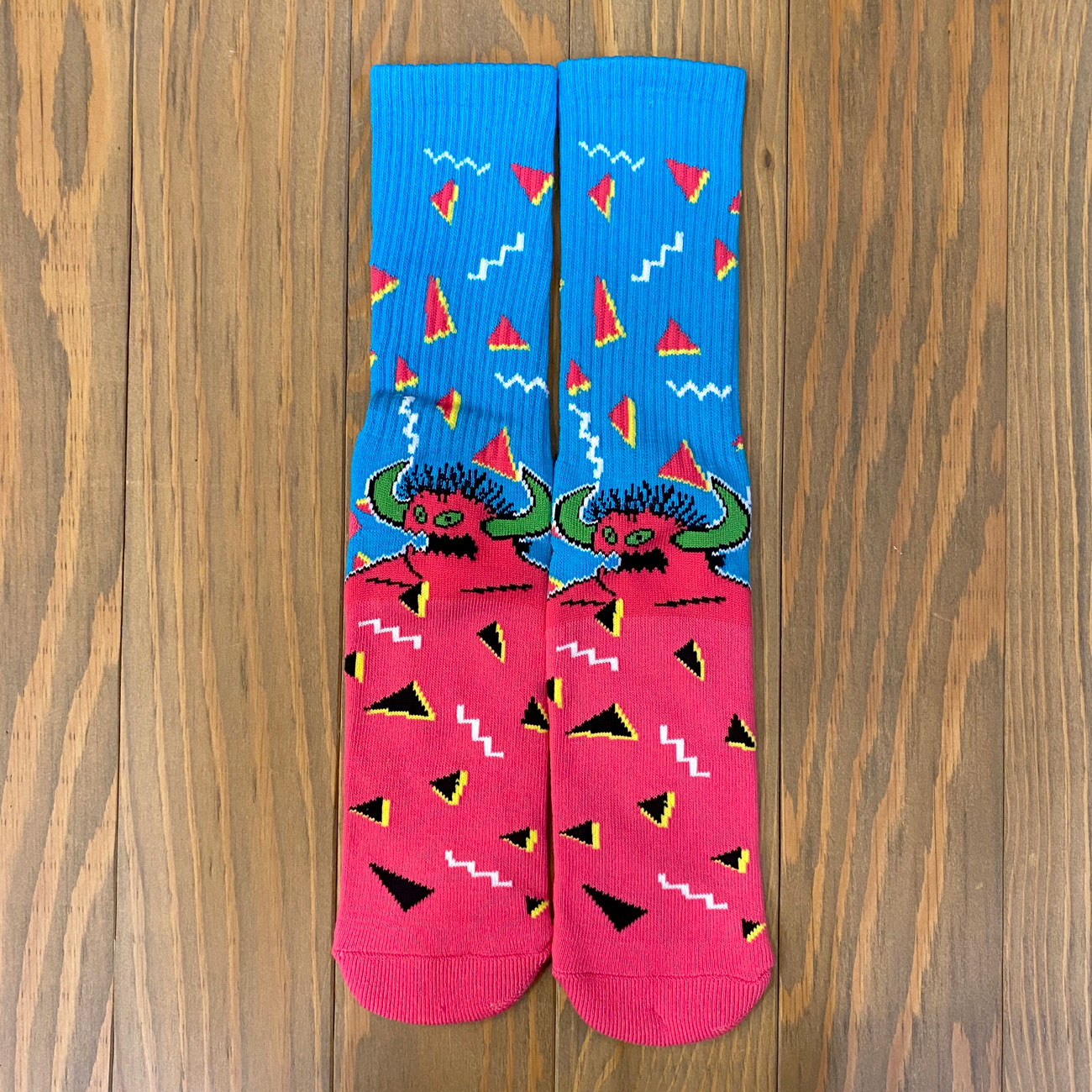 TOY MACHINE 80's MONSTER SOX BLUE/PINK