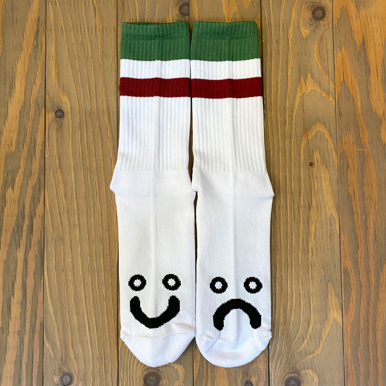 POLAR HAPPY SAD SOX STRIPES GREEN