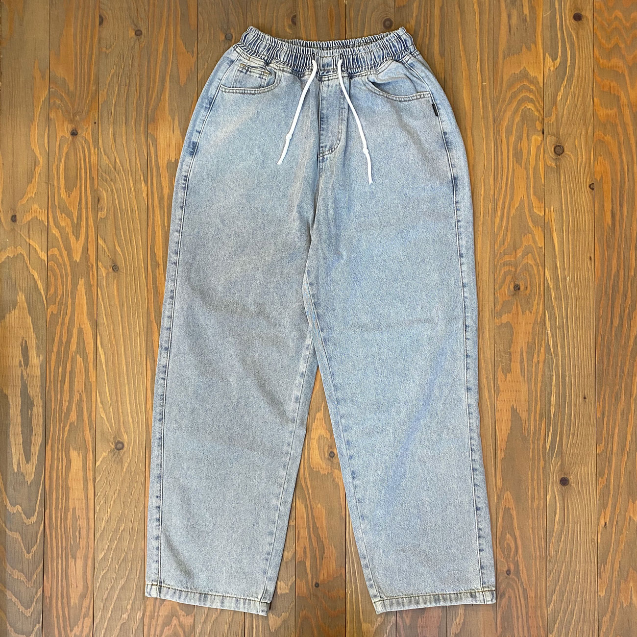 EAZY M!SS WIDE LEGGED PANTS BLUE