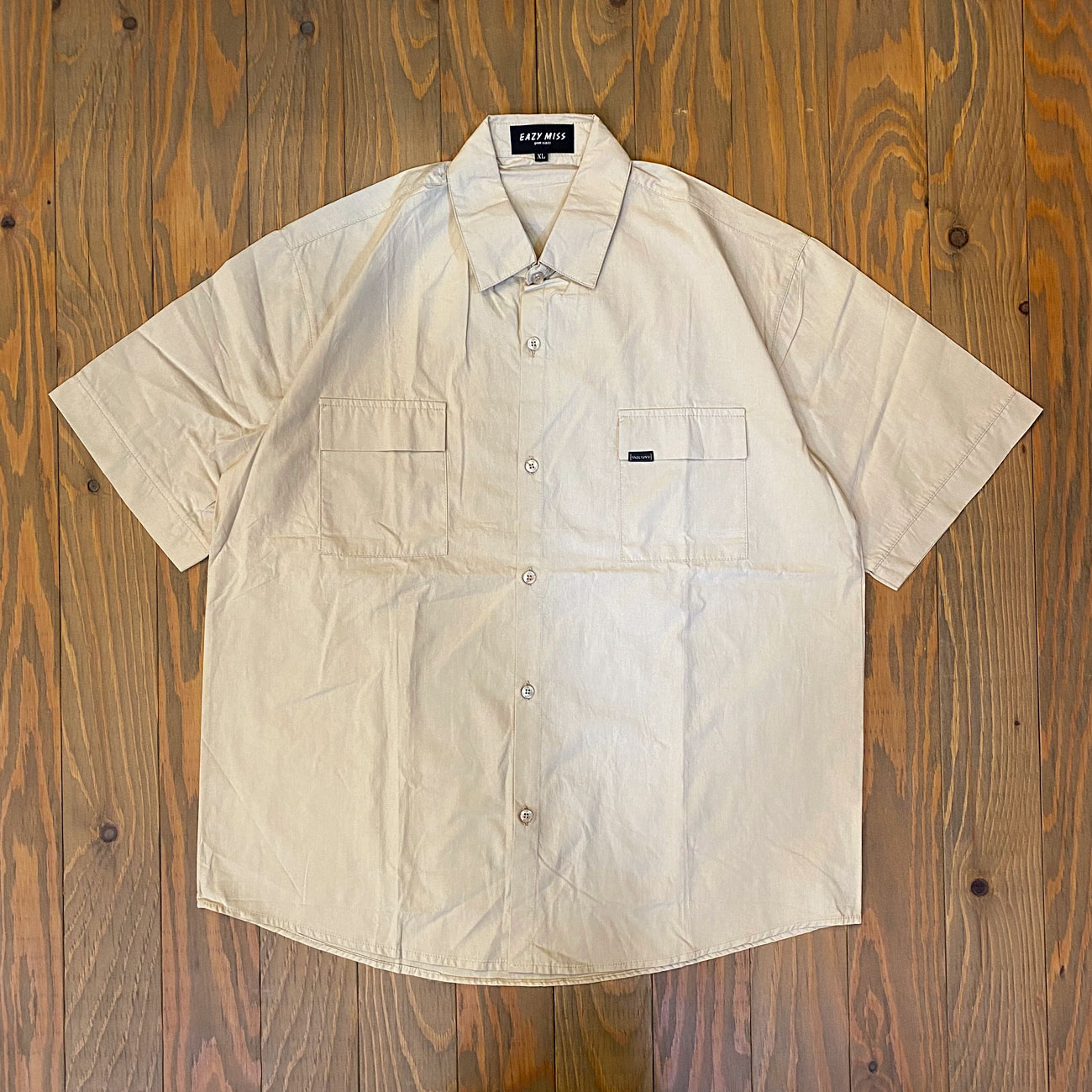 EAZY M!SS FURAPPU POKETTO COLOR SHIRT BEIGE