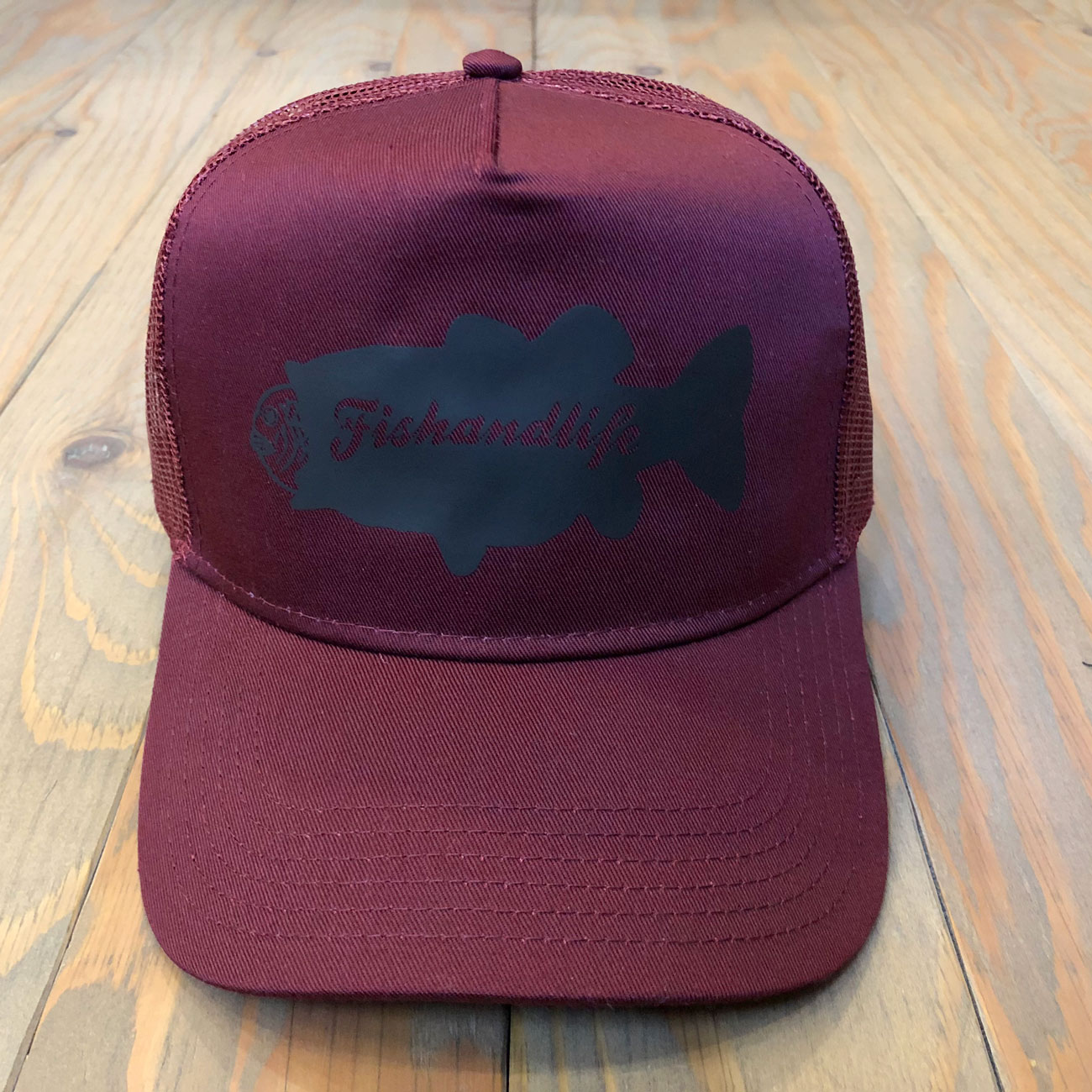 FISH & LIFE BASS NAME MESH CAP