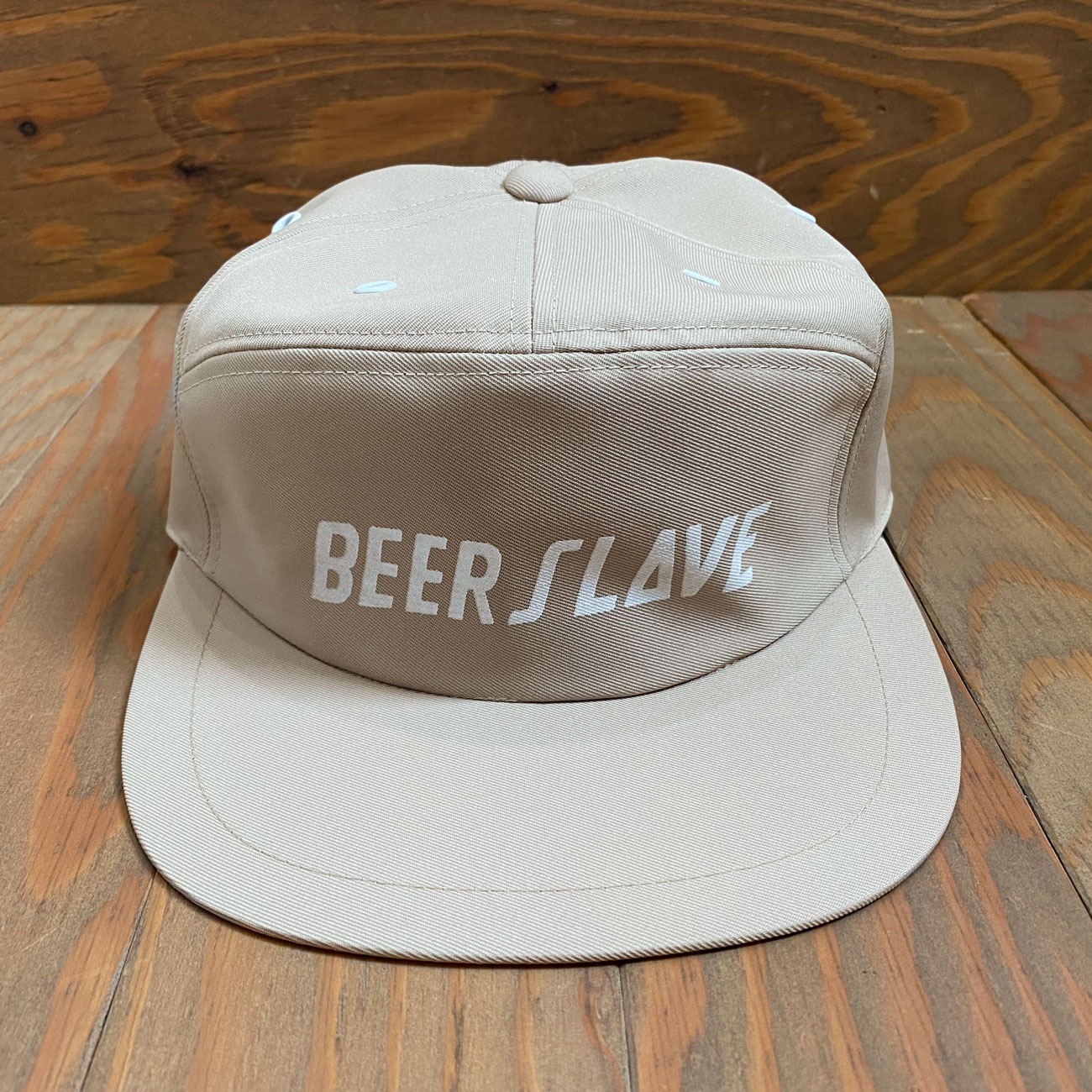 BEER SLAVE WORK CAP BEIGE