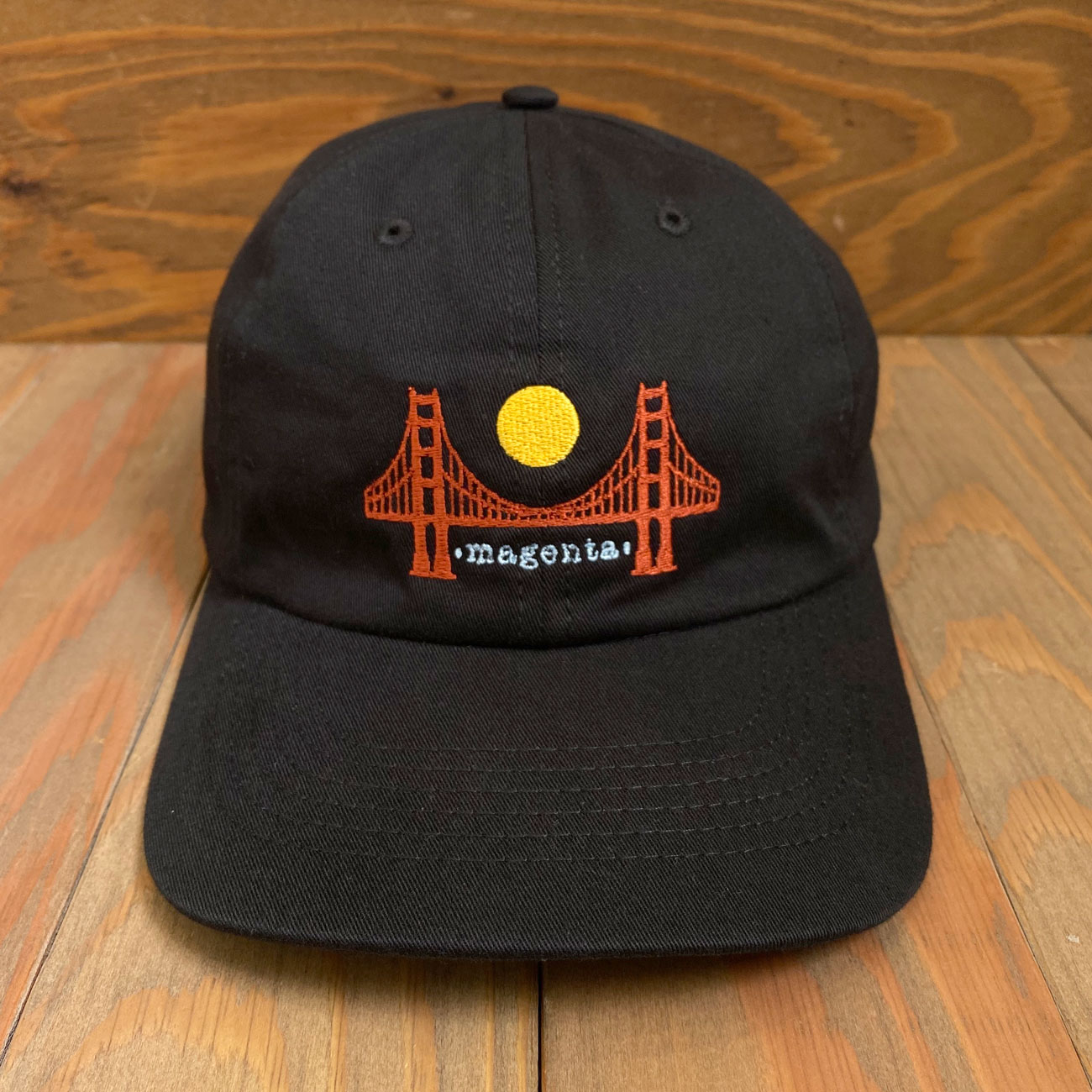 MAGENTA SF DAD HAT BLACK