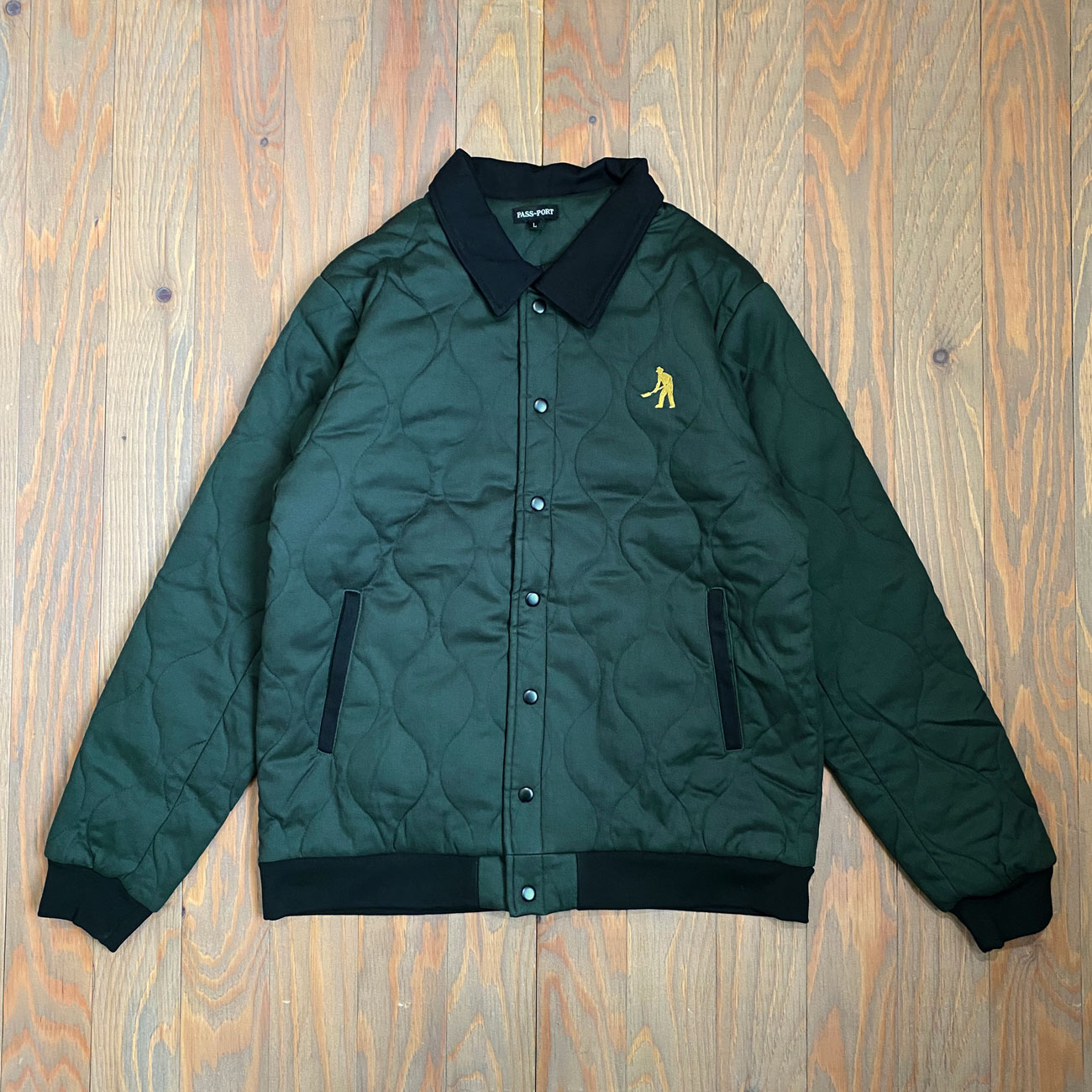 PASS~PORT LATE QUILTED JACKET MIDNIGHT