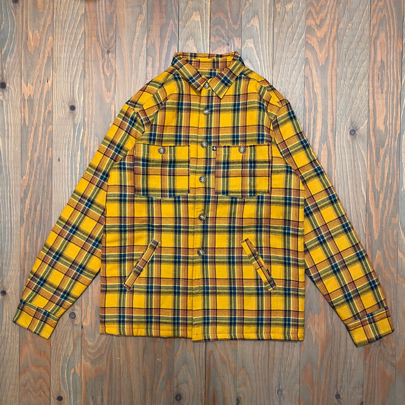 PASS~PORT LATE QUILTED FLANNEL JACKET MUSTARD
