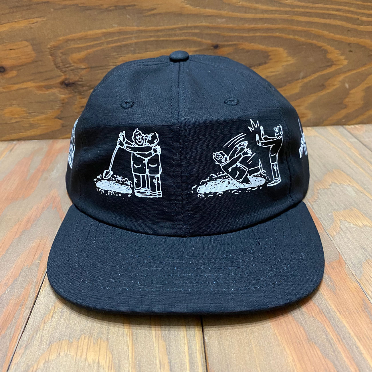 PASS~PORT W.C.W.B.F 6PANEL CAP BLACK