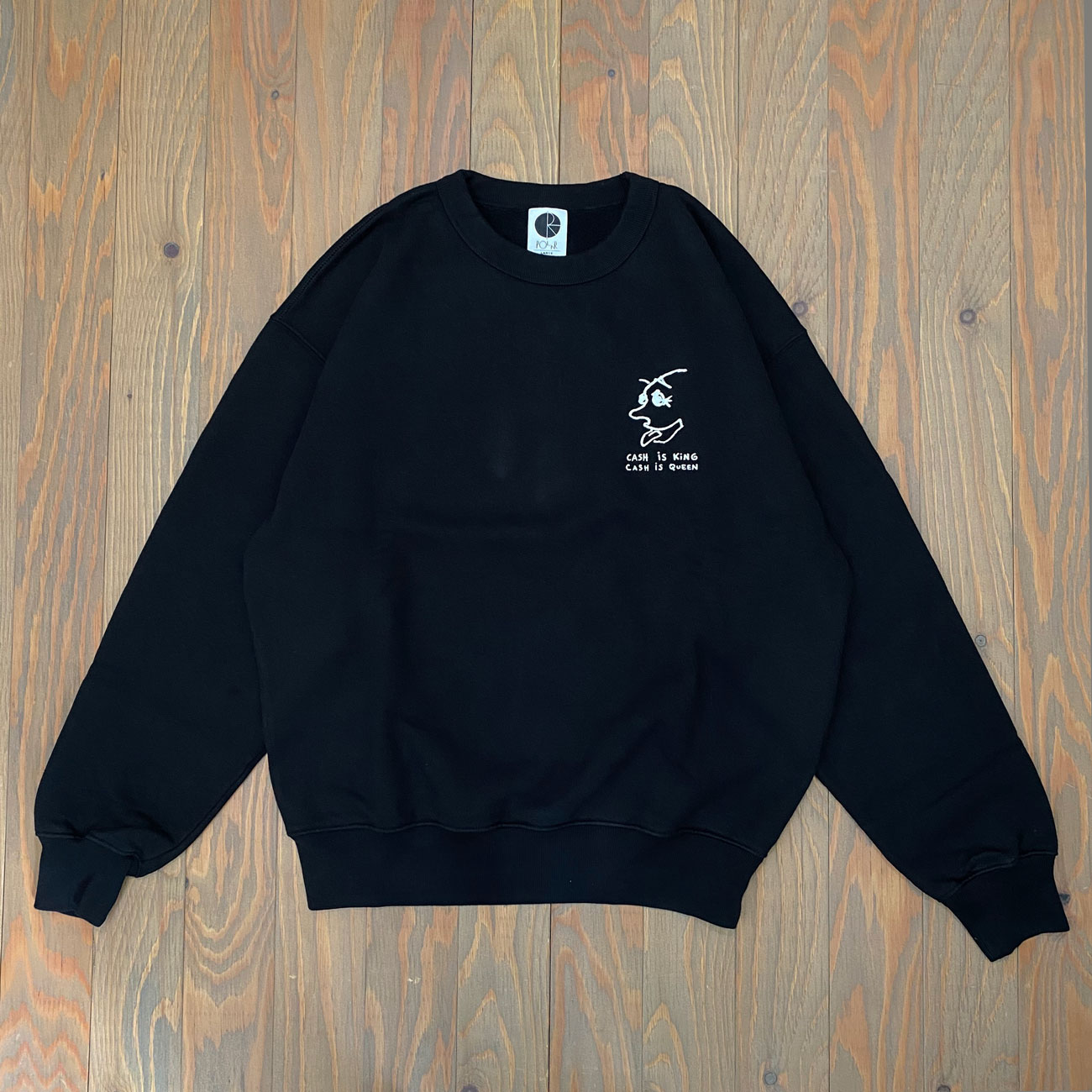 POLAR CASH IS QUEEN CREWNECK BLACK