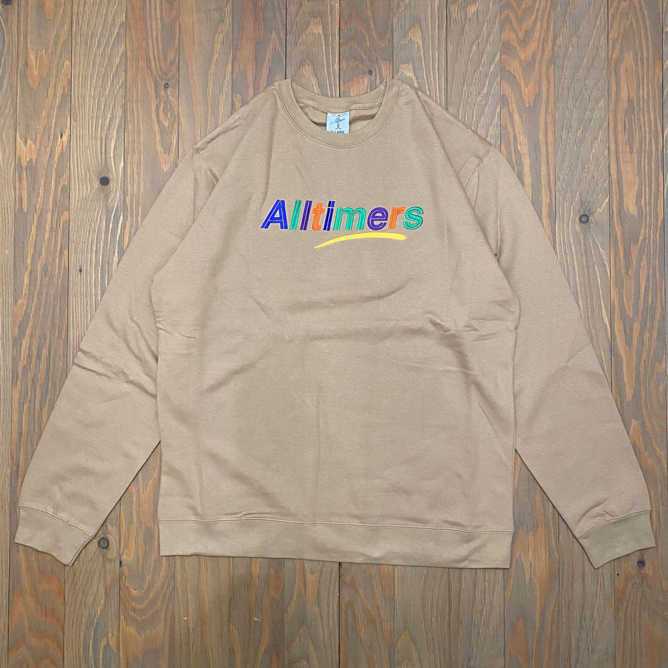 ALLTIMERS EMBROIDERED ESTATE CREW SANDSTONE