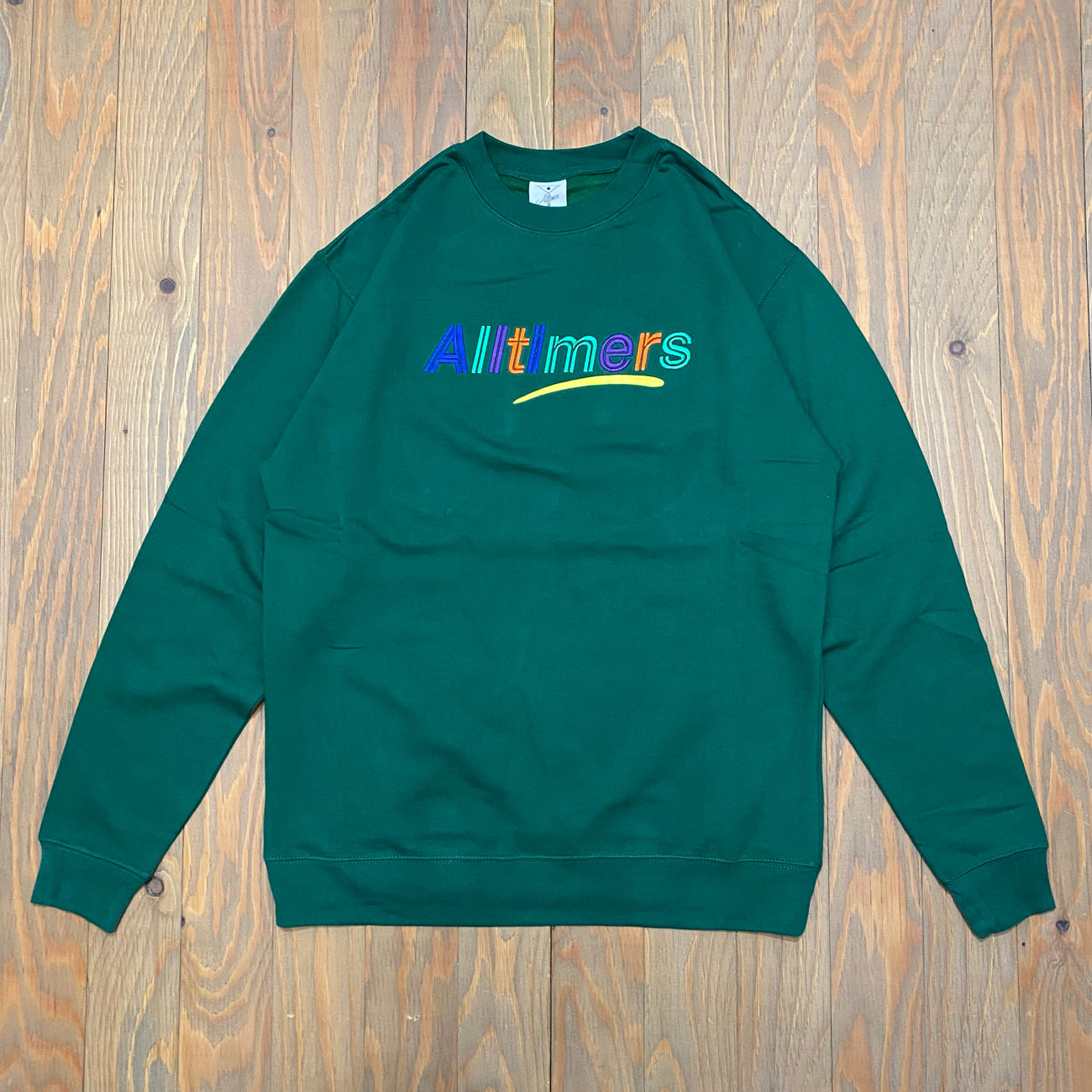 ALLTIMERS EMBROIDERED ESTATE CREW GREEN
