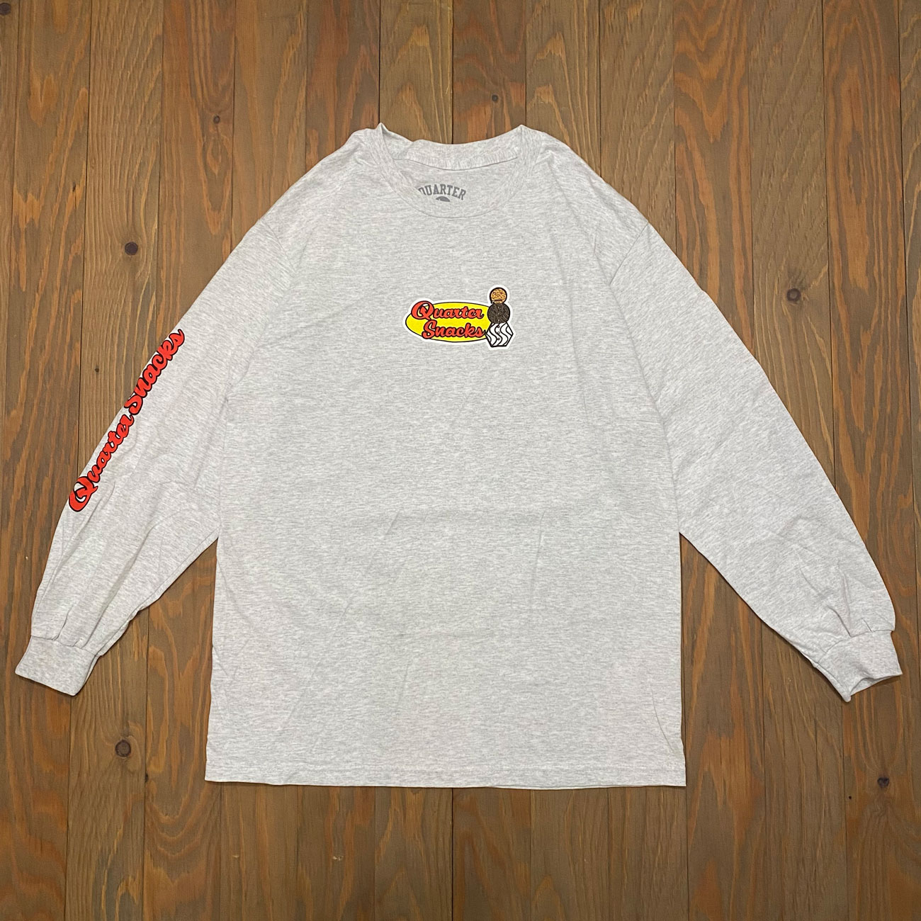 QUARTER SNACKS MIDDLE SCHOOL L/S TEE ASH GREY