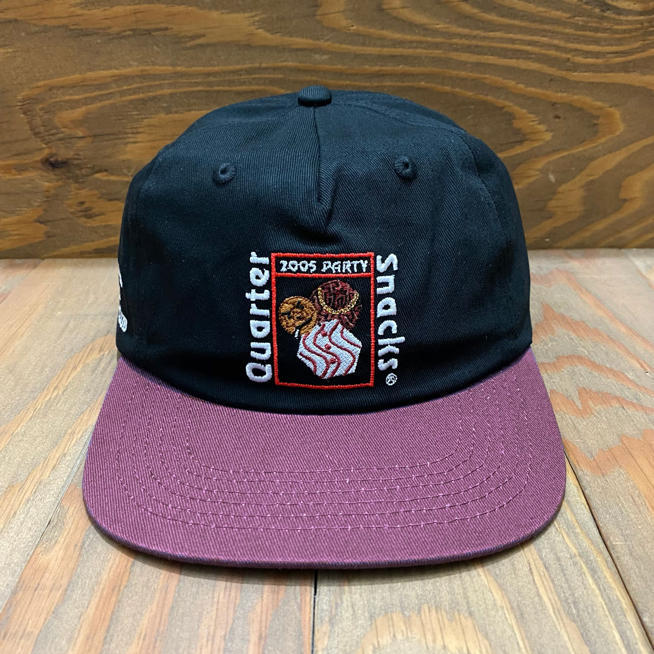 QUARTER SNACKS PARTY CAP BLACK/PURPLE