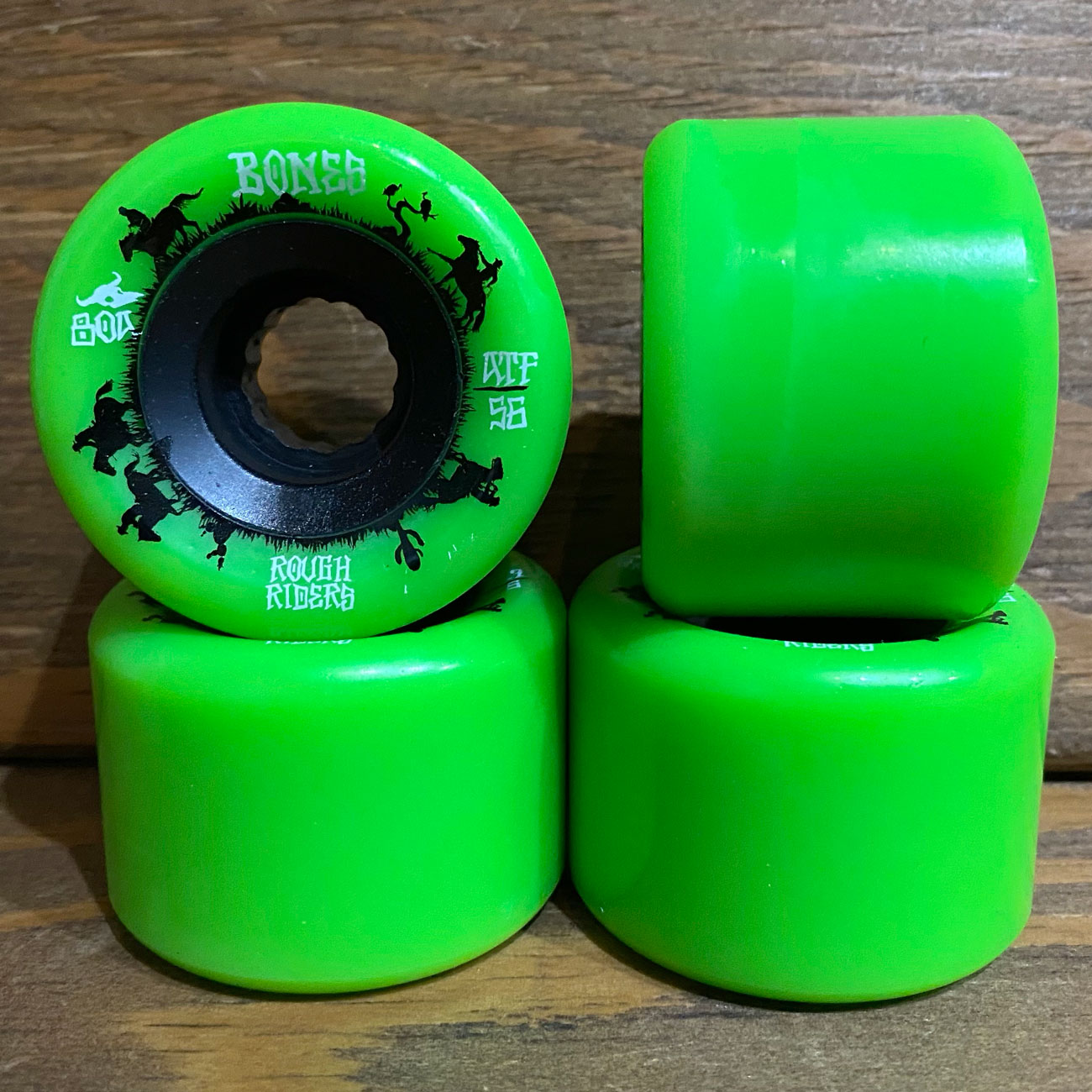 BONES ATF ROUGH RIDERS 80A 56mm GREEN