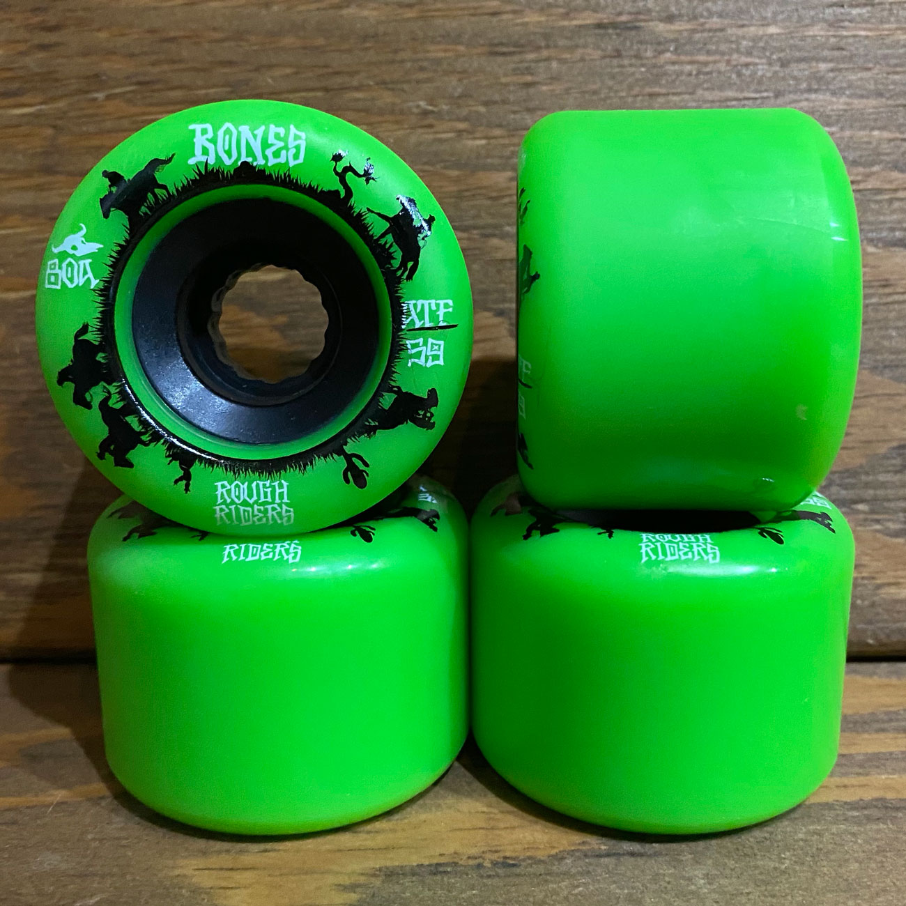 BONES ATF ROUGH RIDERS 80A 59mm GREEN