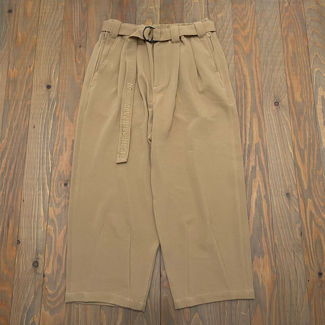 TIGHTBOOTH RIPPLE KNIT BAGGY SLACKS